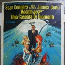 Cine: ZK91D DIAMANTES PARA LA ETERNIDAD JAMES BOND 007 SEAN CONNERY POSTER ORIGINAL 100X140 ITALIANO. Lote 220115681