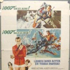 Cine: OU89D OPERACION TRUENO THUNDERBALL JAMES BOND 007 SEAN CONNERY POSTER ORIGINAL 70X100 ESTRENO. Lote 220115903