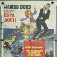 Cine: UH99D 007 AL SERVICIO SECRETO DE SU MAJESTAD JAMES BOND LAZENBY POSTER ORIGINAL ESTRENO 70X100. Lote 220116190