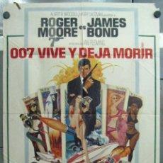 Cine: VI81D 007 VIVE Y DEJA MORIR JAMES BOND ROGER MOORE POSTER ORIGINAL ESTRENO 70X100. Lote 220116290