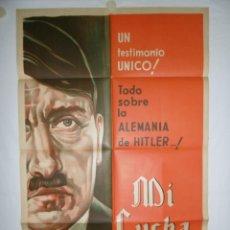 Cine: MEIN KAMPF (MI LUCHA) - 110 X 75 - 1960 - LITOGRAFICO. Lote 220139328