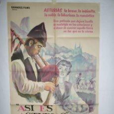 Cine: ASI ES ASTURIAS - 110 X 75 - 1962 - LITOGRAFICO. Lote 220141147