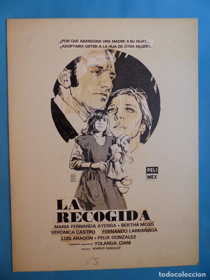 LA RECOGIDA - MARIA FERNANDA AYENSA - PRUEBA DE IMPRENTA POR MONTALBAN - AÑO 1976 (Cine- Posters y Carteles - Drama)
