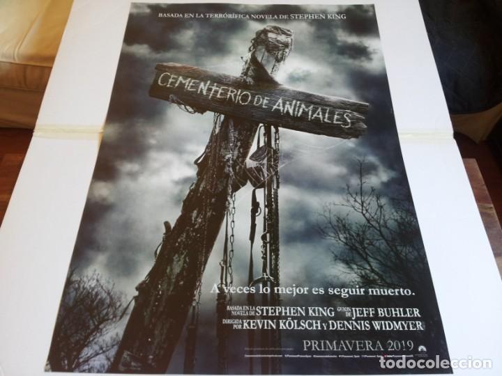 CEMENTERIO DE ANIMALES - JASON CLARKE, JOHN LITHGOW - CARTEL ORIGINAL PARAMOUNT AÑO 2019 PREVIO (Cine - Posters y Carteles - Terror)