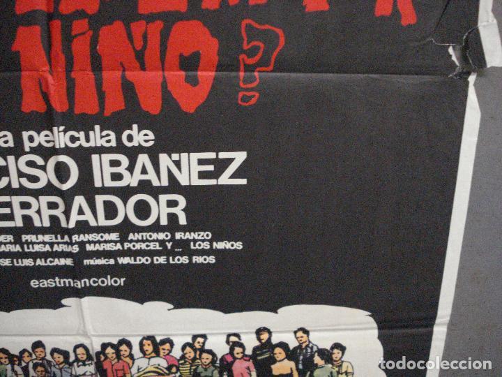 Cine: CDO 5792 QUIEN PUEDE MATAR A UN NIÑO NARCISO IBAÑEZ SERRADOR POSTER ORIGINAL 70X100 ESTRENO - Foto 8 - 220190796
