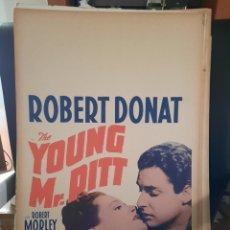 Cine: EL VENCEDOR DE NAPOLEON / THE YOUNG MR. PITT 1942 ROBERT DONAT .- CARTEL ORIGINAL EEUU CARTON 56X36. Lote 220232296