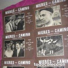 Cine: MIERES DEL CAMINO 6 CARTELES DE CINE MUDO 1ª PELICULA DE MINEROS EN ASTURIAS 1920.. Lote 220255362