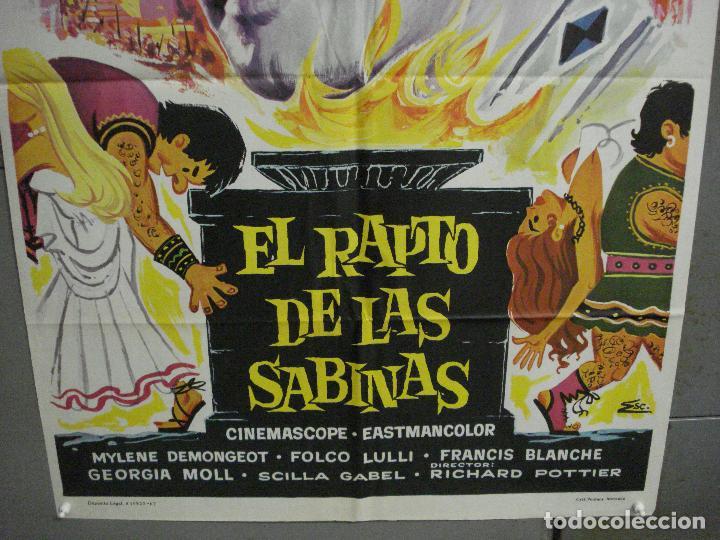 Cine: CDO 5858 EL RAPTO DE LAS SABINAS ROGER MOORE PEPLUM POSTER ORIGINAL 70X100 ESTRENO - Foto 3 - 220260142