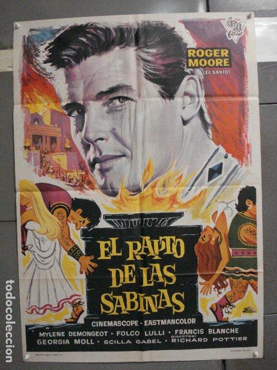 CDO 5858 EL RAPTO DE LAS SABINAS ROGER MOORE PEPLUM POSTER ORIGINAL 70X100 ESTRENO (Cine - Posters y Carteles - Aventura)