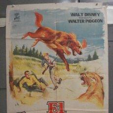 Cine: CDO 5871 EL CAMPEON WALTER PIDGEON WALT DISNEY POSTER ORIGINAL 70X100 ESTRENO. Lote 220265450
