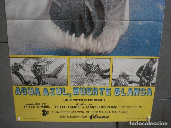 Cine: CDO 5872 AGUA AZUL MUERTE BLANCA DOCUMENTAL TIBURON POSTER ORIGINAL 70X100 ESTRENO - Foto 3 - 220265525