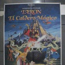 Cine: CDO 5877 TARON Y EL CALDERO MAGICO WALT DISNEY POSTER ORIGINAL ESTRENO 70X100. Lote 220271003