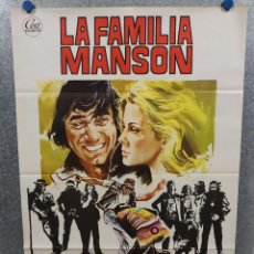 Cine: LA FAMILIA MANSON. JOE NAMATH, ANN-MARGRET, WILLIAM SMITH. AÑO 1973. POSTER ORIGINAL. Lote 220273217