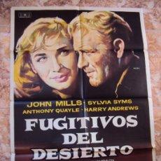 Cine: (CINE-595)CARTEL ORIGINAL FUGITIVOS DEL DESIERTO. JOHN MILLS. ANTHONY QUAYLE. HARRY ANDREWS. Lote 220275396