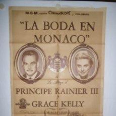 Cine: LA BODA EN MONACO - 110 X 75 - 1956 - LITOGRAFICO. Lote 220312122