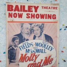 Cine: MOLLY AND ME 1945 .- RODDY MCDOWALL / GRACIE FIELDS / CARTEL ORIGINAL EEUU CARTON 56 X 36. Lote 220362010