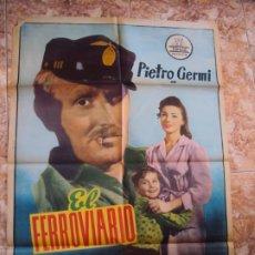 Cine: (CINE-607B)EL FERROVIARIO PIETRO GERMI VENTURI SYLVA KOSCINA POSTER ORIGINAL. Lote 220368833