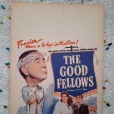 Cine: THE GOOD FELLOWS 1943 .- CECILE KELLAWAY , HELEN WALKER ,JAMES BROWN .- CARTEL EEUU CARTON 56X36. Lote 220387976