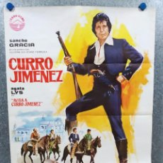 Cine: AVISA A CURRO JIMÉNEZ. SANCHO GRACIA, JOSÉ SANCHO, ÁLVARO DE LUNA. AÑO 1978. POSTER ORIGINAL. Lote 220389612