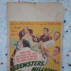 Cine: MI NOVIO ESTA LOCO / BREWSTERS MILLIONS 1945 .- DENNIS O'KEEFE , HELEN WALKER .- CARTEL EEUU CARTON. Lote 220389906