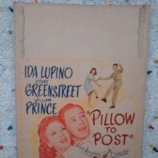 Cine: PILLOW TO POST 1945 / IDA LUPINO , SIDNEY GREENSTREET / CARTEL EEUU CARTON 56X36. Lote 220390695