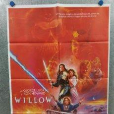 Cine: WILLOW. WARWICK DAVIS, VAL KILMER, JOANNE WHALLEY. POSTER ORIGINAL ESTRENO. Lote 220391176