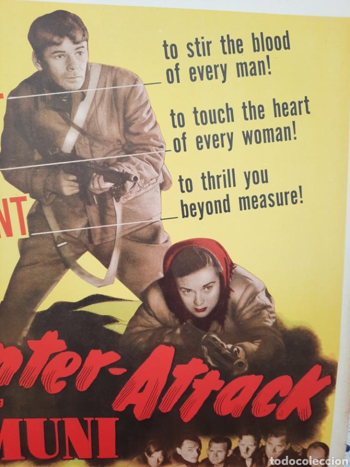 Cine: COUNTER-ATTACK 1945 .- PAUL MUNI ,MARGUERITE CHAPMAN .- CARTEL EEUU CARTON 56X36 - Foto 2 - 220392811