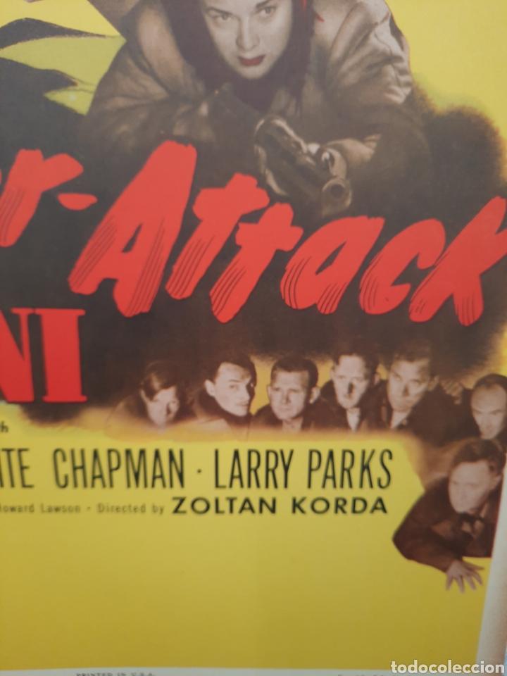 Cine: COUNTER-ATTACK 1945 .- PAUL MUNI ,MARGUERITE CHAPMAN .- CARTEL EEUU CARTON 56X36 - Foto 3 - 220392811