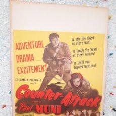 Cine: COUNTER-ATTACK 1945 .- PAUL MUNI ,MARGUERITE CHAPMAN .- CARTEL EEUU CARTON 56X36. Lote 220392811