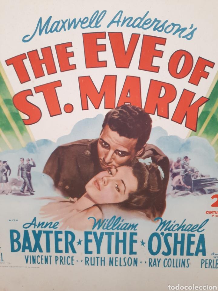 Cine: LA VISPERA DE SAN MARCOS / THE EVE OF ST. MARK .- ANNE BAXTER / WILLIAM EYTHE .- CARTEL EEUU CARTON - Foto 2 - 220394335