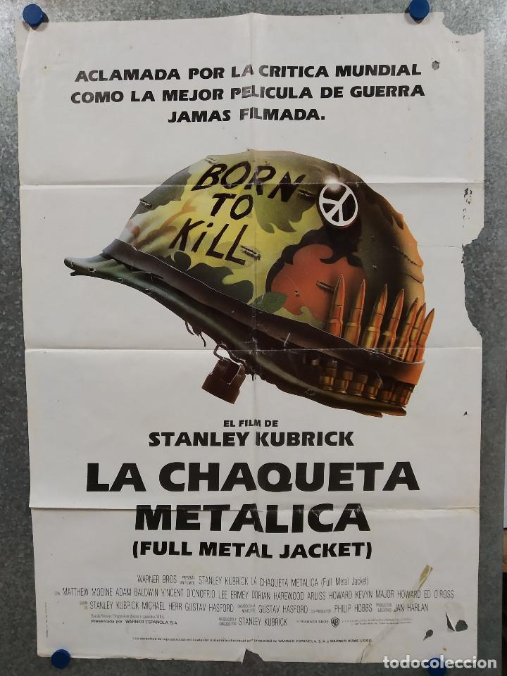 LA CHAQUETA METALICA, STANLEY KUBRICK, MATTHEW MODINE - 2 POSTERS ORIGINALES - ESTRENO Y CRITICA (Cine - Posters y Carteles - Bélicas)