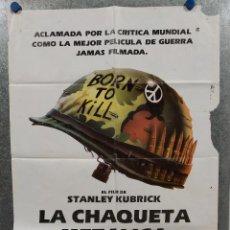 Cine: LA CHAQUETA METALICA, STANLEY KUBRICK, MATTHEW MODINE - 2 POSTERS ORIGINALES - ESTRENO Y CRITICA. Lote 220395218