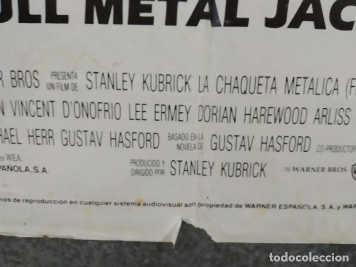 Cine: LA CHAQUETA METALICA, Stanley Kubrick, Matthew Modine - 2 POSTERS ORIGINALES - ESTRENO Y CRITICA - Foto 10 - 220395218