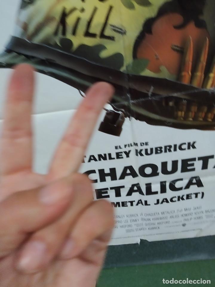 Cine: LA CHAQUETA METALICA, Stanley Kubrick, Matthew Modine - 2 POSTERS ORIGINALES - ESTRENO Y CRITICA - Foto 12 - 220395218