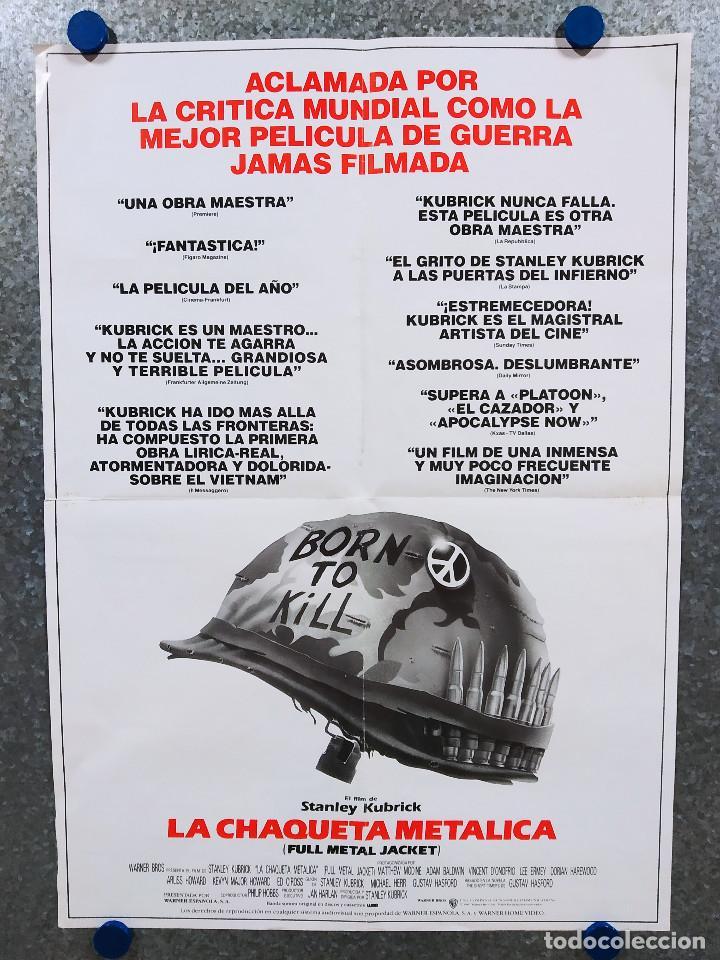 Cine: LA CHAQUETA METALICA, Stanley Kubrick, Matthew Modine - 2 POSTERS ORIGINALES - ESTRENO Y CRITICA - Foto 14 - 220395218