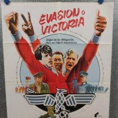 Cinema: EVASIÓN O VICTORIA. SYLVESTER STALLONE, MICHAEL CAINE, PELE., FUTBOL. AÑO 1981. POSTER ORIGINAL. Lote 220395875