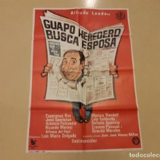 Cinema: GUAPO HEREDERO BUSCA ESPOSA CARTEL ORIGINAL ESTRENO 1972 ALFREDO LANDA. Lote 220446776