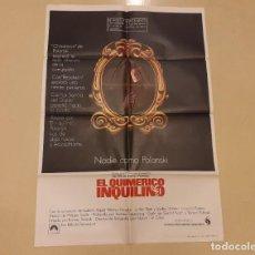 Cinema: EL QUIMÉRICO INQUILINO CARTEL ORIGINAL ESTRENO ROMAN POLANSKI MUY RARO!!!. Lote 241668615
