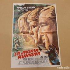 Cinema: LA JAURIA HUMANA (THE CHASE) CARTEL ORIGINAL REPOSICIÓN 80S MARLON BRANDO, ROBERT REDFORD. Lote 241909730