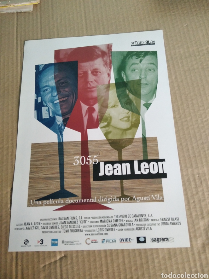 CARTEL DE CINE PELICULA 3055 JEAN LEÓN (Cine - Posters y Carteles - Documentales)