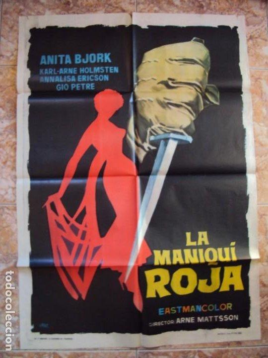 (CINE-629)LA MANIQUÍ ROJA ANITA BJORK POSTER ORIGINAL (Cine - Posters y Carteles - Suspense)