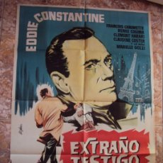Cine: (CINE-631)EXTRAÑO TESTIGO EDDIE CONSTANTINE POSTER ORIGINAL. Lote 220854378