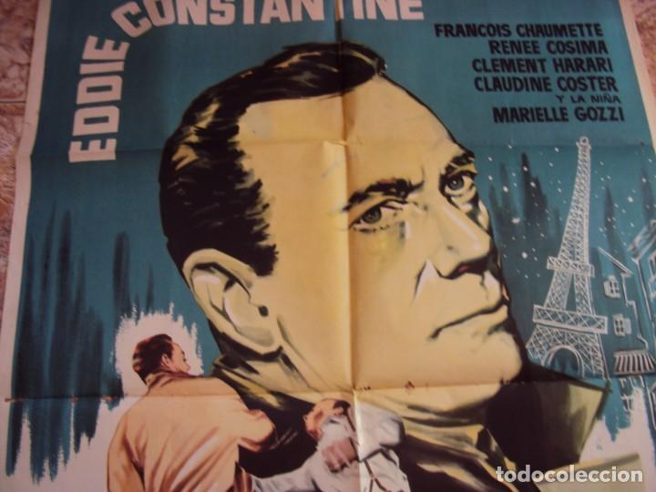 Cine: (CINE-631)EXTRAÑO TESTIGO EDDIE CONSTANTINE POSTER ORIGINAL - Foto 7 - 220854378