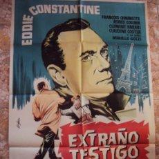 Cine: (CINE-632)EXTRAÑO TESTIGO EDDIE CONSTANTINE POSTER ORIGINAL. Lote 220854491