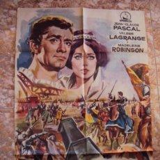 Cine: (CINE-637) LA CORONA ENCADENADA JEAN-CLAUDE PASCAL VALERIE LAGRANGE POSTER ORIGINAL. Lote 220855341
