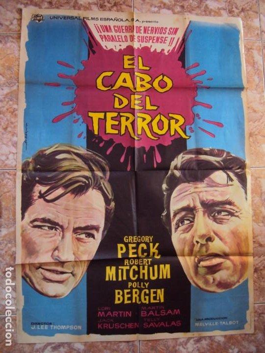 (CINE-640)CARTEL CINE, EL CABO DEL TERROR, GREGORY PECK, ROBERT MITCHUM (Cine - Posters y Carteles - Suspense)