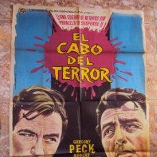 Cine: (CINE-640)CARTEL CINE, EL CABO DEL TERROR, GREGORY PECK, ROBERT MITCHUM. Lote 220856045