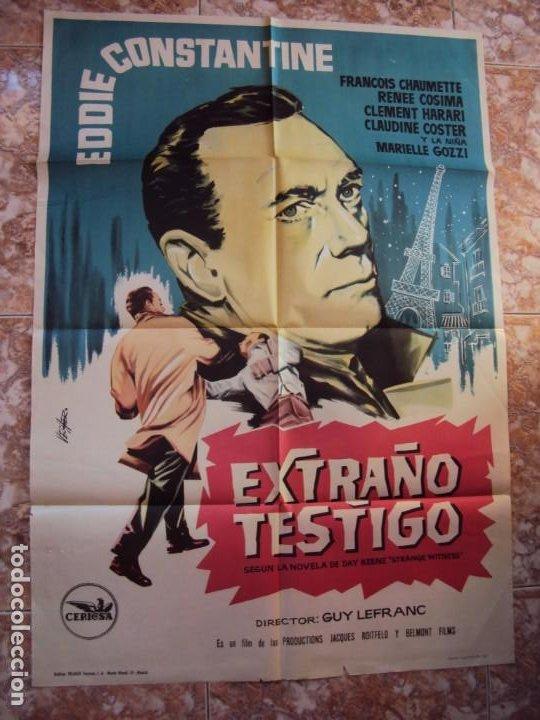 (CINE-645)EXTRAÑO TESTIGO EDDIE CONSTANTINE POSTER ORIGINAL (Cine - Posters y Carteles - Suspense)