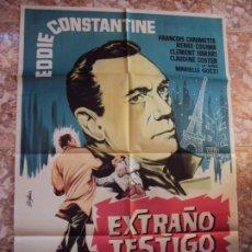 Cine: (CINE-645)EXTRAÑO TESTIGO EDDIE CONSTANTINE POSTER ORIGINAL. Lote 220866628