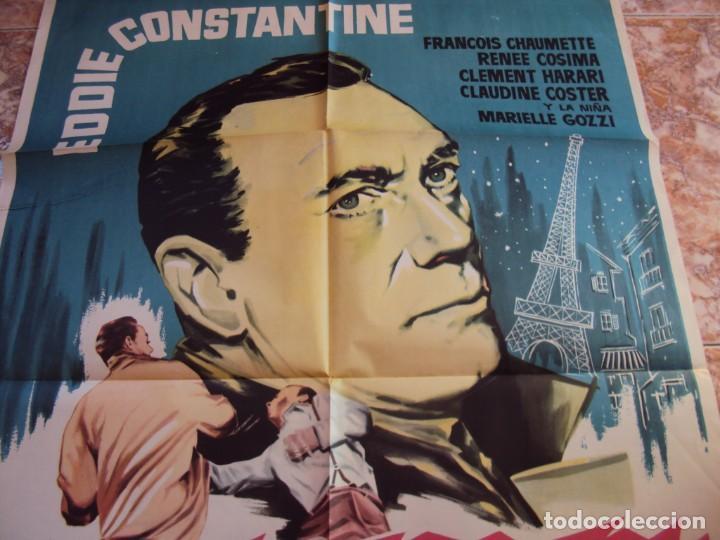 Cine: (CINE-645)EXTRAÑO TESTIGO EDDIE CONSTANTINE POSTER ORIGINAL - Foto 3 - 220866628